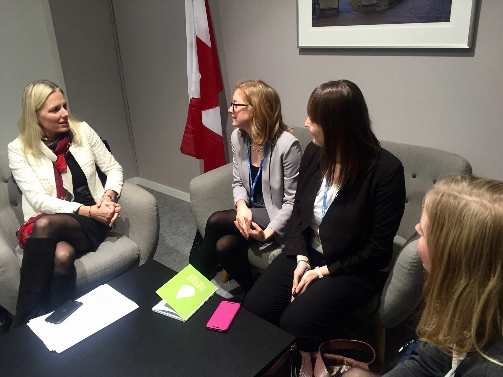 IFLRY Delegation meeting Canadian environment minister Catherine McKenna