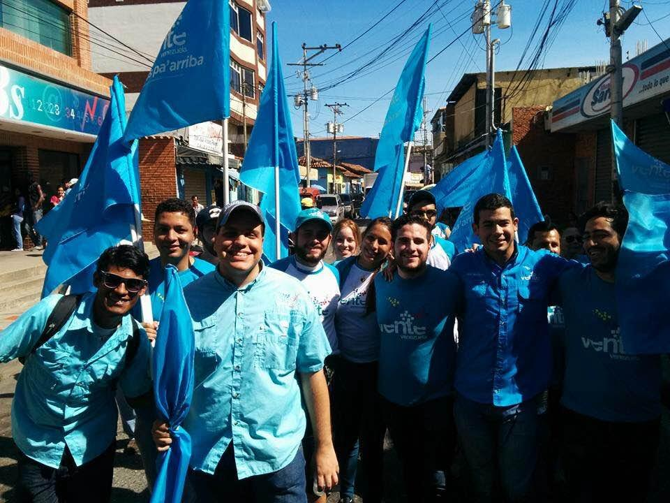Campaigning in the streets of Caracas