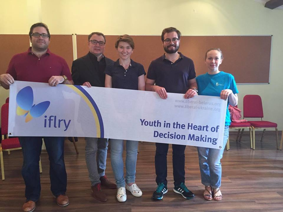 Trainers at the IFLRY Youth and Decision Making training.