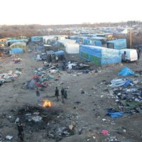Tents in the 'Jungle' refugee camp near Calais, France.