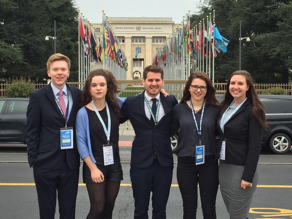 The IFRLY team at the UN Human Rights Summit in Geneva.