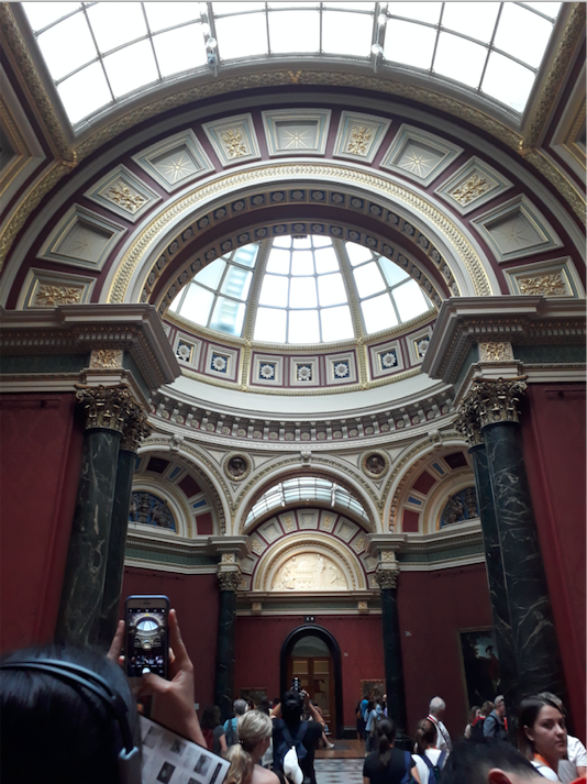 Inside the National Gallery.